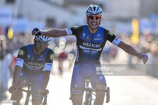 1st Tour de la Provence 2016 / Stage 2 Arrival / MARTINELLI Davide Celebration Joie Vreugde / MiramasIstres / Etape Rit/ Tim De Waele