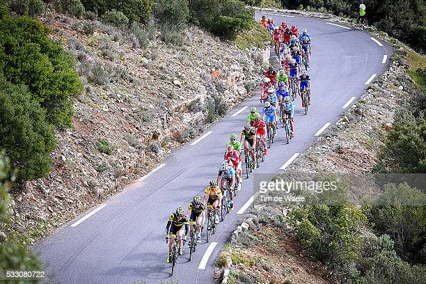 1st Tour de la Provence 2016 / Stage 3 Illustration Illustratie Landscape Paysage Landschap Peleton Peloton / VOECKLER Thomas Yellow leaders jersey/...