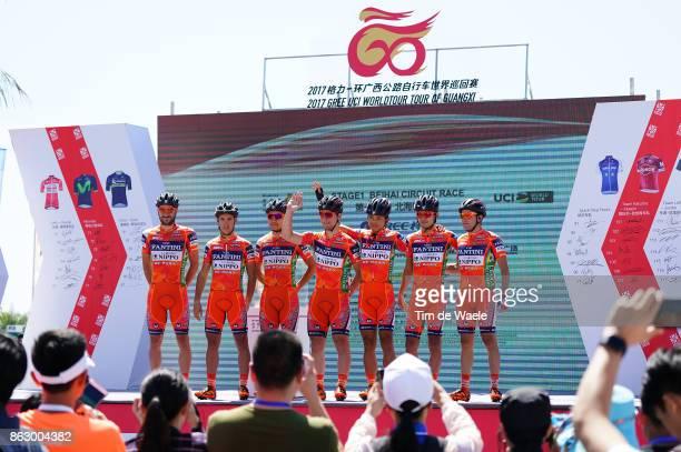 1st Tour of Guangxi 2017 / Stage 1 Podium / Team Nippo Vini Fantini / Giacomo BERLATO / Pier Paolo DE NEGRI / Masakazu ITO / Kazushige KUBOKI /...