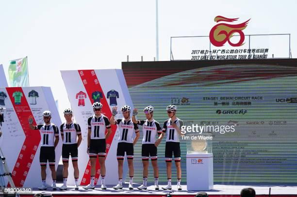 1st Tour of Guangxi 2017 / Stage 1 Podium / Team Sunweb / Wilco KELDERMAN / Lennard HOFSTEDE / Michael MATTHEWS / Mike TEUNISSEN / Albert TIMMER /...