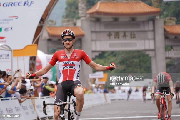 1st Tour of Guangxi 2017 / Stage 4 Arrival / Tim WELLENS Celebration / Bauke MOLLEMA / Nanning Mashan Nongla Scenic Area 472m / Gree Tour of Guangxi...