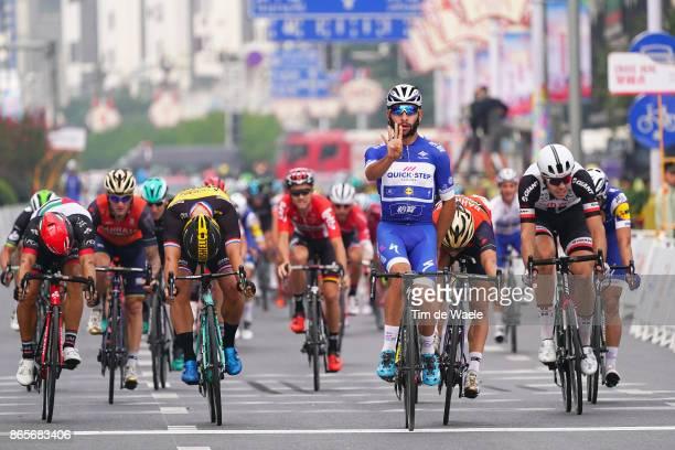 1st Tour of Guangxi 2017 / Stage 6 Arrival / Fernando GAVIRIA Blue Sprint Jersey Celebration / Dylan GROENEWEGEN / Niccolo BONIFAZIO / Andrea...