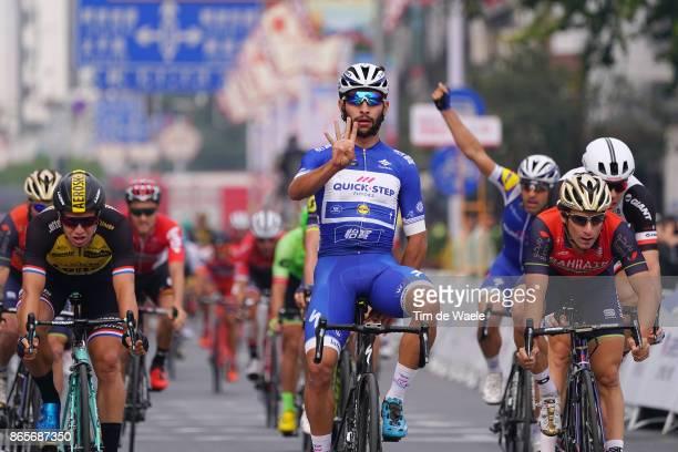 1st Tour of Guangxi 2017 / Stage 6 Arrival / Fernando GAVIRIA Blue Sprint Jersey Celebration / Dylan GROENEWEGEN / Niccolo BONIFAZIO / Guilin Guilin...