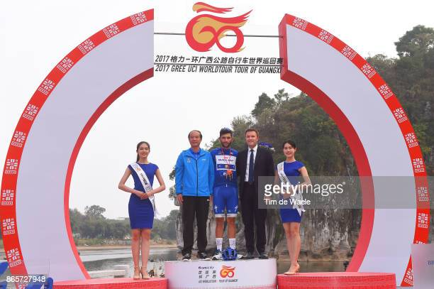 1st Tour of Guangxi 2017 / Stage 6 Podium / Fernando GAVIRIA Blue Sprint Jersey / David LAPPARTIENT UCI President / Celebration / Guilin Guilin /...