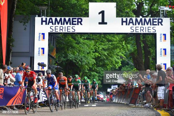 1st VelonBest Team 2017 / Day 1 Illustration / Arrival / Tim WELLENS / Yves LAMPAERT / Philippe GILBERT / Vaals Vaals 320m / Hammer Series / Hammer...