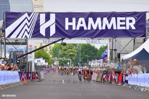 1st VelonBest Team 2017 / Day 2 Landscape / Arrival / Peloton / SittardGeleen SittardGeleen / Hammer Series / Hammer Sprint /