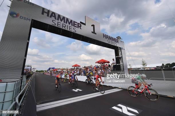 1st VelonBest Team 2017 / Day 2 Landscape / Peloton / Arrival / Giacomo NIZZOLO / SittardGeleen SittardGeleen / Hammer Series / Hammer Sprint /