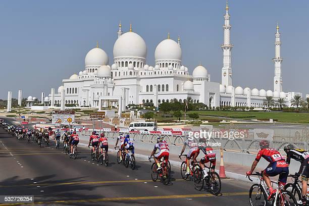 1th Abu Dhabi Tour 2015 / Stage 2 Illustration Illustratie / Peleton Peloton / Landscape Paysage/ Sheikh Zayed Grand Mosque/ Mosque/ Abu Dhabi Abu...