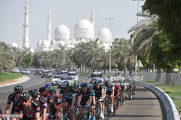 1th Abu Dhabi Tour 2015 / Stage 2 Illustration Illustratie / Peleton Peloton / Sheikh Zayed Grand Mosque / Landscape Paysage Landschap / Yas Marina...