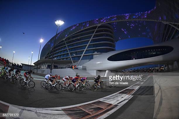 1th Abu Dhabi Tour 2015 / Stage 4 Illustration Illustratie / Peleton Peloton / Landscape Paysage Landschap / Yas Marina Circuit / Yas Marina Circuit...