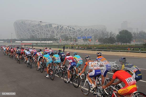 1th Tour Beijing 2011 / Stage 5 Illustration Illustratie / Birds Nest Olympic Stadium Stadion / Landscape Paysage Landschap / Peleton Peloton / Tian...