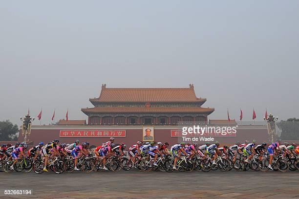 1th Tour Beijing 2011 / Stage 5 Illustration Illustratie / TIAN AN MEN / Peleton Peloton / Landscape Paysage Landschap / Tian An Men Square - Birds...