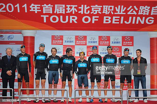 1th Tour Beijing 2011 / Stage 5 Podium / Team SKy Best Team / Hein VERBRUGGEN UCI / FROOME Christopher / APPOLLONIO Davide / BARRY Michael / CIONI...