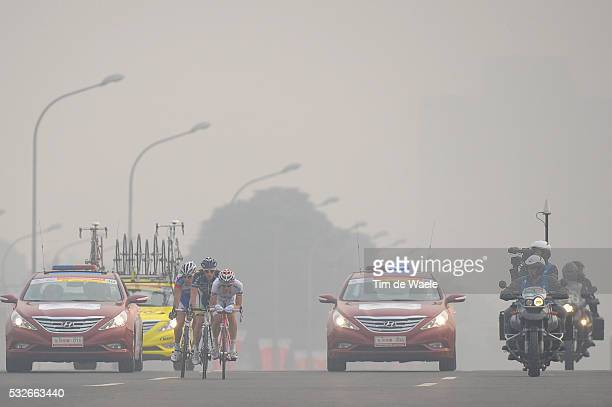 1th Tour Beijing 2011 / Stage 5 REDA Francesco / WESTRA Lieuwe / PLIUSCHIN Alexandr / TV / Smog Polution Vervuiling Lucht / Tian An Men Square -...