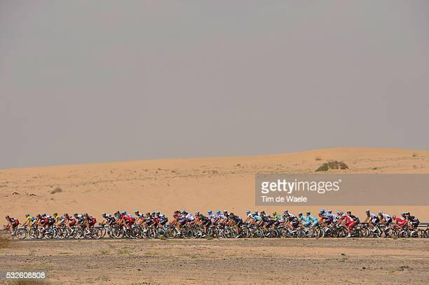 1th Tour of Dubai 2014 / Stage 2 Illustration Illustratie / Peleton Peloton / Dessert Woestijn / Landscape Paysage Landschap / Dubai - Palm Jumeirah...