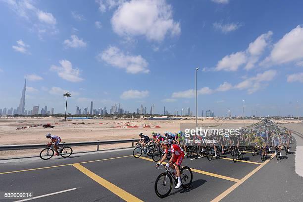 1th Tour of Dubai 2014 / Stage 2 Illustration Illustratie / Peleton Peloton / Dubai City Ville Stad / Skyline / Landscape Paysage Landschap / Dubai -...