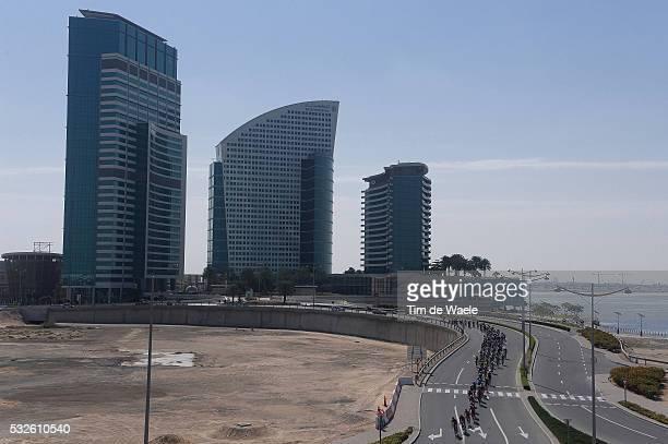 1th Tour of Dubai 2014 / Stage 3 Illustration Illustratie / DUBAI City Ville Stad / Peleton Peloton / Landscape Paysage Landschap / Dubai - Hatta /...