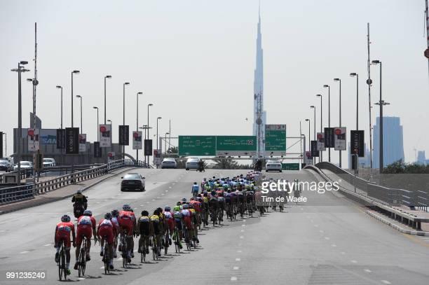 1Th Tour Of Dubai 2014 Stage 4Illustration Illustratie Peleton Peloton Buej Khalifa / Dubai Burj Khalifa 8298M / The Old Dubai Stage Ronde/ Tim De...