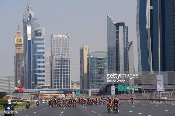 1Th Tour Of Dubai 2014 Stage 4Illustration Illustratie Peleton Peloton Dubai City Ville Stad Landscape Paysage Landschap Dubai Burj Khalifa 8298M /...