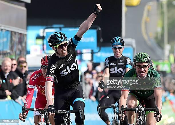 1th Tour of Yorkshire 2015/ Stage 1 Arrival/ Lars Petter NORDHAUG Celebration Joie Vreugde / Thomas VOECKLER / Stephane ROSSETTO / Philip DEIGNAN...