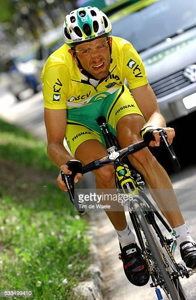 Cycling, 2004 Tour of Romandie. Alexandre Moos during stage 4. Cyclisme, Tour de Romandie 2004. Alexandre Moos dans la quatrième étape.