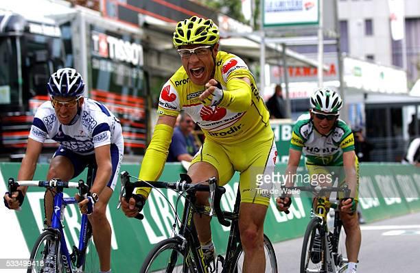 Cycling, 2004 Tour of Romandie. Fabian Jeker , winner of stage 4. Cyclisme, Tour de Romandie 2004. Fabian Jeker remporte la quatrième étape.