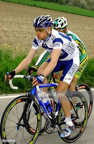Cycling, 2004 Tour of Romandie. Tom Danielson during stage 1. Cyclisme, Tour de Romandie 2004. Tom Danielson dans la première étape.