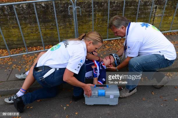 Road World Championships, Junior Women Eva Mottet Crach Chute Val Injury Blessure Gewond, Valkenburg - Valkenburg / Femmes Vrouwen, Championat Du...
