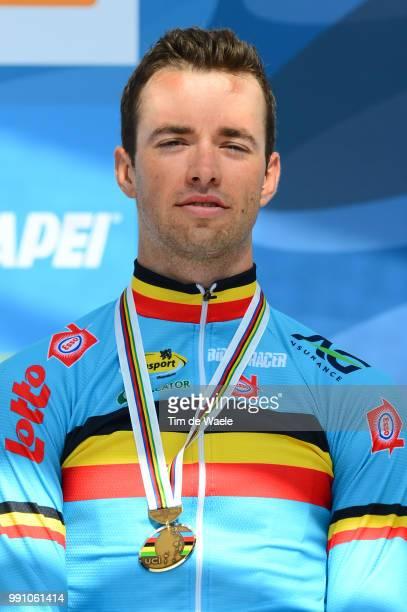 Road World Championships, Men Under -23 Podium, Tom Van Asbroeck Bronze Medal Celebration Joie Vreugde, Valkenburg - Valkenburg / Hommes Mannen,...