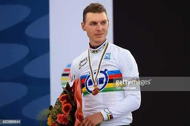 Road World Championships / TT Men Elite Podium / Tony MARTIN Gold Medal Celebration Joie Vreugde / Heerlen - Valkenburg / Time Trial Men / Contre la...