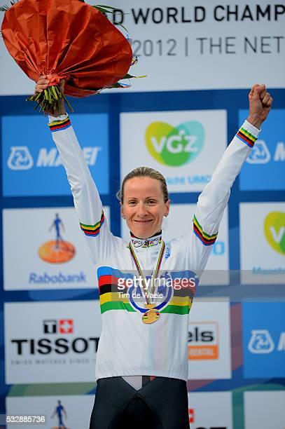 Road World Championships / TT Women Elite Podium / Judith ARNDT Gold Medal Celebration Joie Vreugde / Eijsden - Valkenburg / Time Trial Women /...