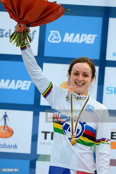 Road World Championships / TT Women Junoirs Podium / Elinor BARKER Gold Medal Celebration Joie Vreugde / Eijsden - Valkenburg / Time Trial Women /...