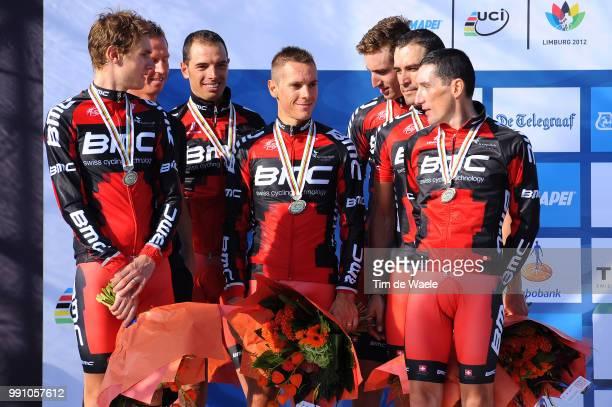 Road World Championships, Ttt Men Elitepodium, Bmc Racing Team Silver Medal, Tejay Vangarderen / Manuel Quinzaito / Marco Pinotti / Taylor Phinney /...