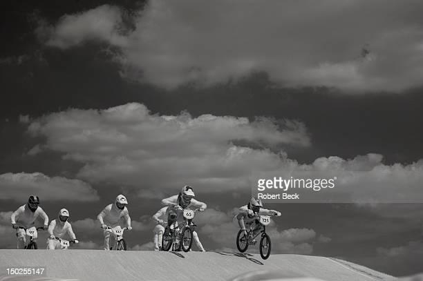Summer Olympics: Infrared view of Australia Khalen Young , Latvia Rihards Veide , Latvia Edzus Treimanis , Grewat Britain Liam Phillips , and...
