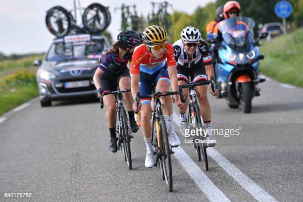 20th Boels Rental Ladies Tour / Stage 6 Alexis RYAN / Christine MAJERUS / Lucinda BRAND / Car / Sittard Sittard / Women / BRL /