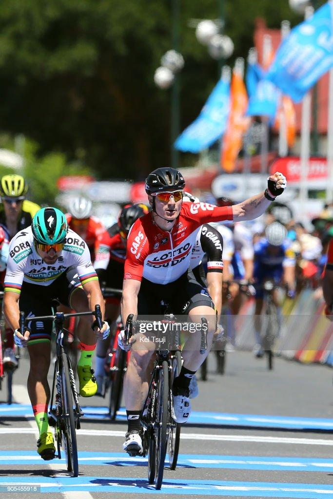 20th Santos Tour Down Under 2018 / Stage 1 Arrival / Andre GREIPEL (GER) Celebration / Peter SAGAN (SVK)/ Port Adelaide - Lyndoch (145km) / Men / TDU /
