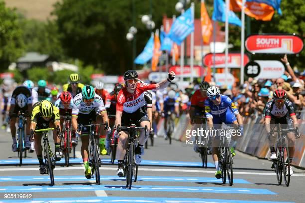 20th Santos Tour Down Under 2018 / Stage 1 Arrival / Sprint / Andre GREIPEL Celebration / Peter SAGAN / Caleb EWAN / Elia VIVIANI / Port Adelaide...