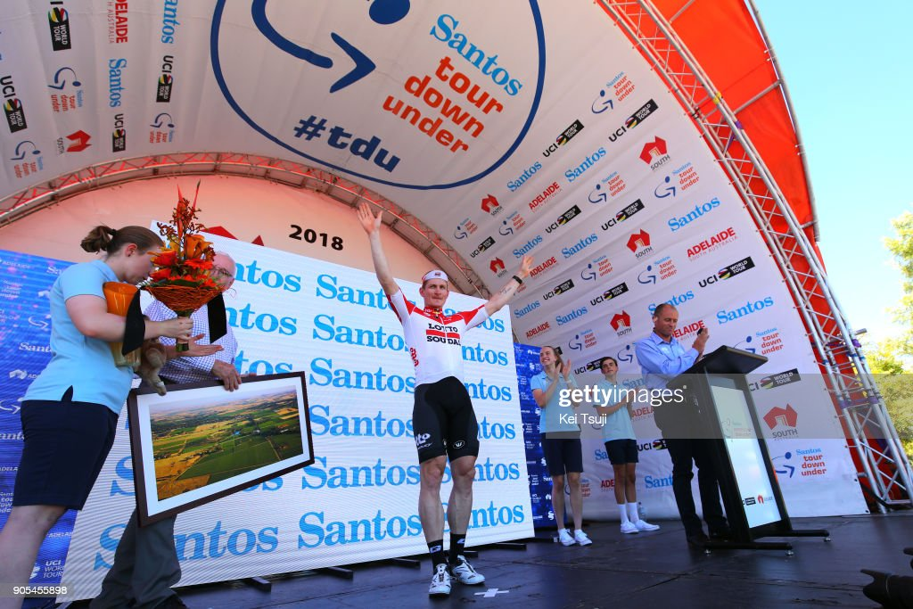20th Santos Tour Down Under 2018 / Stage 1 Podium / Andre GREIPEL (GER) Celebration / Port Adelaide - Lyndoch (145km) / Men / TDU /