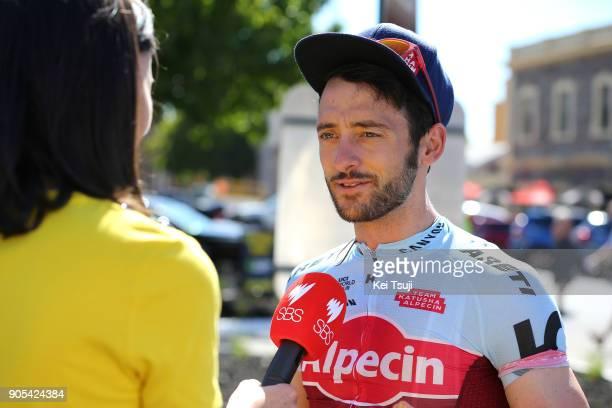 20th Santos Tour Down Under 2018 / Stage 1 Start / Nathan HAAS / interview / Port Adelaide Lyndoch / Men / TDU /