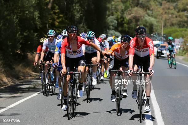 20th Santos Tour Down Under 2018 / Stage 2 Andre GREIPEL Orange Leader Jersey / Adam HANSEN / Marcel SIEBERG / King William Road Unley Mount Barker...