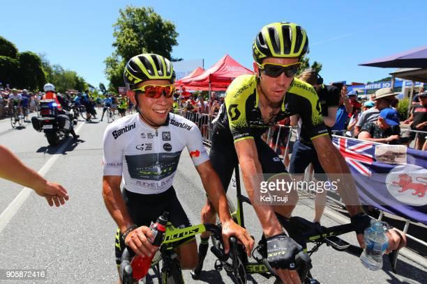 20th Santos Tour Down Under 2018 / Stage 2 Arrival / Caleb EWAN White Best Young Rider Jersey / Mathew HAYMAN / Celebration / King William Road Unley...