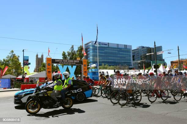 20th Santos Tour Down Under 2018 / Stage 2 Victoria Square / Peloton / Landscape / King William Road Unley Mount Barker Road Stirling 400m / Men /...
