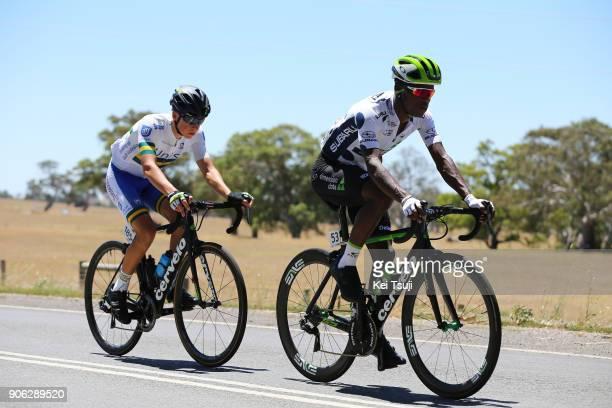 20th Santos Tour Down Under 2018 / Stage 3 Nickolas DLAMINI Polka Dot Mountain Jersey / Scott BOWDEN / Colley Tce Glenelg The Esplanade Victor Harbor...
