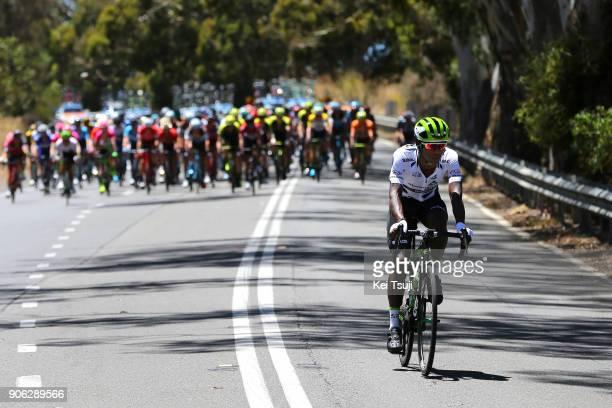 20th Santos Tour Down Under 2018 / Stage 3 Nickolas DLAMINI Polka Dot Mountain Jersey / Colley Tce Glenelg The Esplanade Victor Harbor / Race...