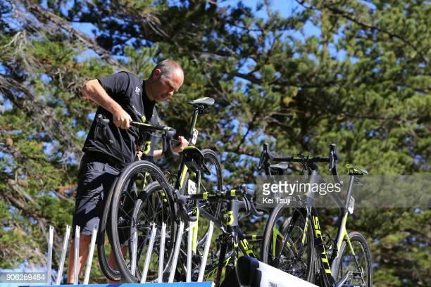 20th Santos Tour Down Under 2018 / Stage 3 Start / Team MitcheltonScott / Mechanic / Colley Tce Glenelg The Esplanade Victor Harbor / Race shortened...