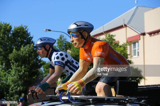 20th Santos Tour Down Under 2018 / Stage 4 Start / Orange Leader Jersey / Polka Dot Mountain Jersey / Caravan / The Parade Norwood Greenhill Road...