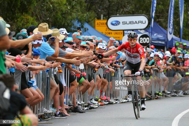 20th Santos Tour Down Under 2018 / Stage 5 Andre GREIPEL / Fans / High Five / Main Road McLaren Vale Brookman Road Willunga Hill 382m / Men / TDU /