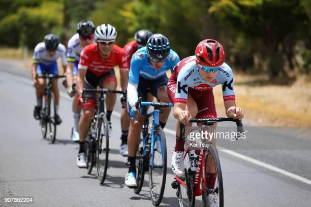 20th Santos Tour Down Under 2018 / Stage 5 Mads WURTZ SCHMIDT / Zak DEMPSTER / Scott BOWDEN / Nickolas DLAMINI Polka Dot Mountain Jersey / Fumiyuki...