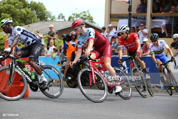 20th Santos Tour Down Under 2018 / Stage 5 Mads WURTZ SCHMIDT / Nickolas DLAMINI Polka Dot Mountain Jersey / Fumiyuki BEPPU / Main Road McLaren Vale...