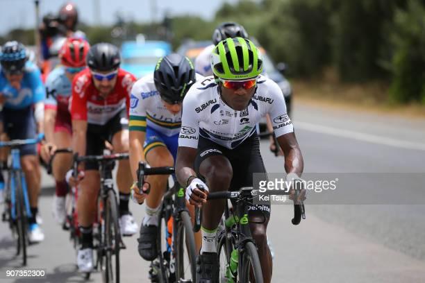 20th Santos Tour Down Under 2018 / Stage 5 Nickolas DLAMINI Polka Dot Mountain Jersey / Main Road McLaren Vale Brookman Road Willunga Hill 382m / Men...